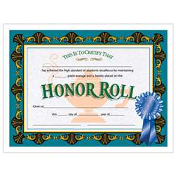 Certificates Honor Roll Blue 30/Pk Ribbon 85 X 11 By Hayes School Publishing