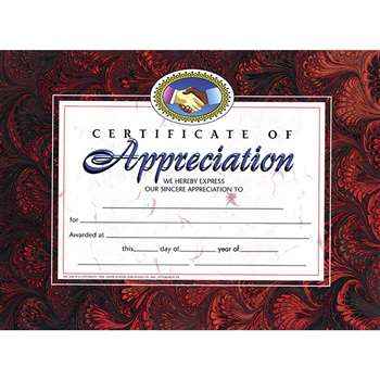 Certificates Of Appreciation 30 Pk 8.5 X 11 By Hayes School Publishing