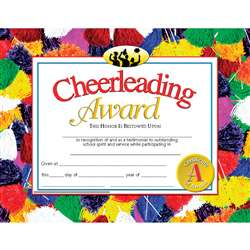 Certificates Cheerleading 30/Pk Award 8.5 X 11 By Hayes School Publishing