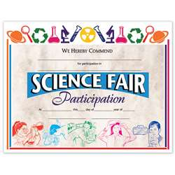 Certificates Science Fair 30/Pk 8.5 X 11 By Hayes School Publishing