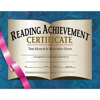 Certificates Reading Achievement 30 Pk 8.5 X 11 By Hayes School Publishing