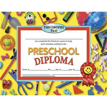 Diplomas Preschool 30/Pk 8.5 X 11 Red Ribbon By Hayes School Publishing