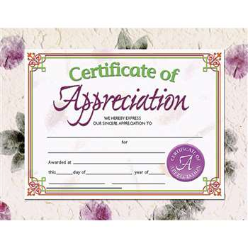 Certificates Of Appreciation 30 Pk 8.5 X 11 Inkjet Laser By Hayes School Publishing
