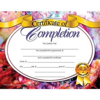 Certificates Of Completion 30/Pk 8.5 X 11 Inkjet Laser By Hayes School Publishing