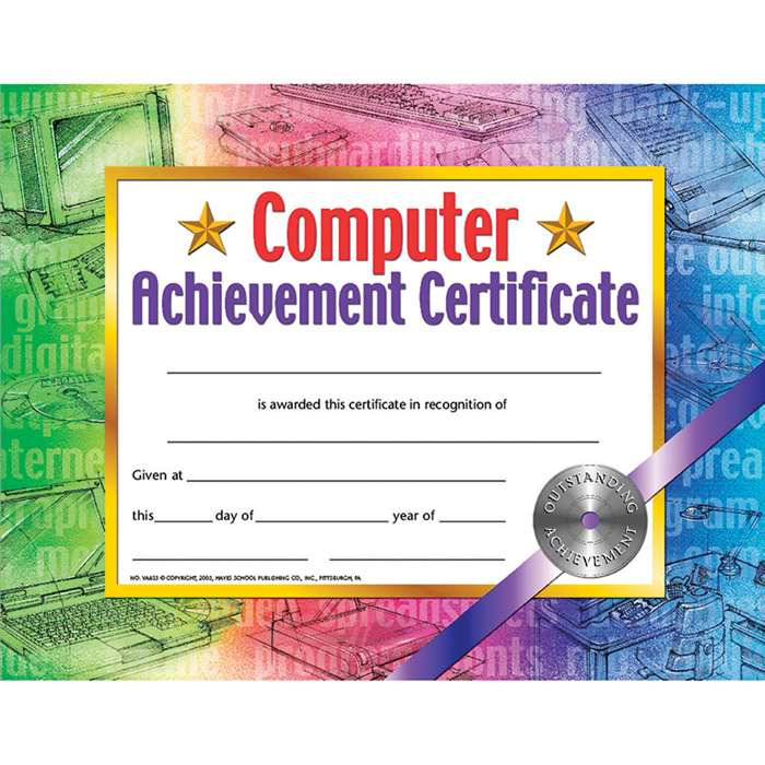 Certificates Computer Set Of 30 Achievement Certificate By Hayes School Publishing