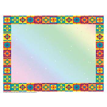 Multicolored Border Certificate Border/Computer Paper By Hayes School Publishing