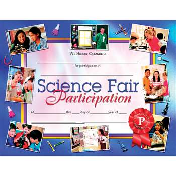 Certificates Science Fair 30 Pk Participation 8.5 X 11 Inkjet Laser By Hayes School Publishing