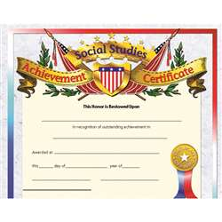 Certificates Social Studies 30/Pk Achievement 8.5 X 11 Inkjet Laser By Hayes School Publishing