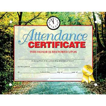 Certificates Attendance 30 Pk 8.5 X 11 Inkjet Laser By Hayes School Publishing