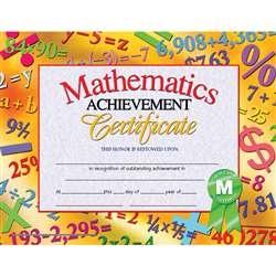 Certificates Mathematics 30 Pk Achievement 8.5 X 11 Inkjet Laser By Hayes School Publishing
