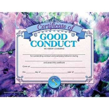 Certificates Of Good Conduct 30 Pk 8.5 X 11 Inkjet Laser By Hayes School Publishing