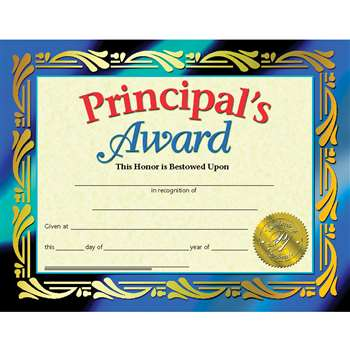 Certificates Principals Award 30 Pk 8.5 X 11 Inkjet Laser By Hayes School Publishing