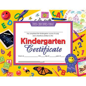 Certificates Kindergarten 30 Pk 8.5 X 11 Inkjet Laser By Hayes School Publishing