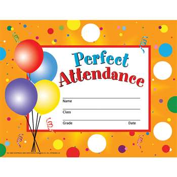 Perfect Attendance 30/Set By Hayes School Publishing