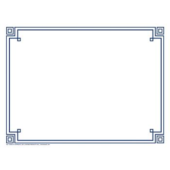 Four Square Border Paper Blue, H-VA906