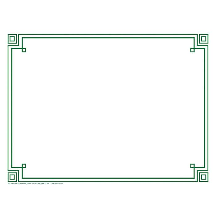Four Square Border Paper Green, H-VA908