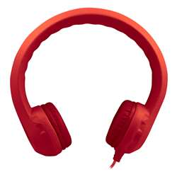 Flex-Phones Indestructible Red Foam Headphones, HECKIDSRED