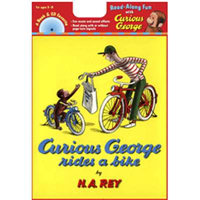 Carry Along Book & Cd Curious George Rides A Bike By Houghton Mifflin