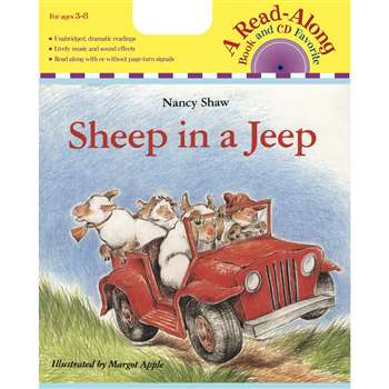 Carry Along Book & Cd Sheep In A Jeep By Houghton Mifflin