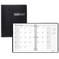 Academic Monthly Planner 8 1/2 X 11 Black Wirebound By House Of Doolittle