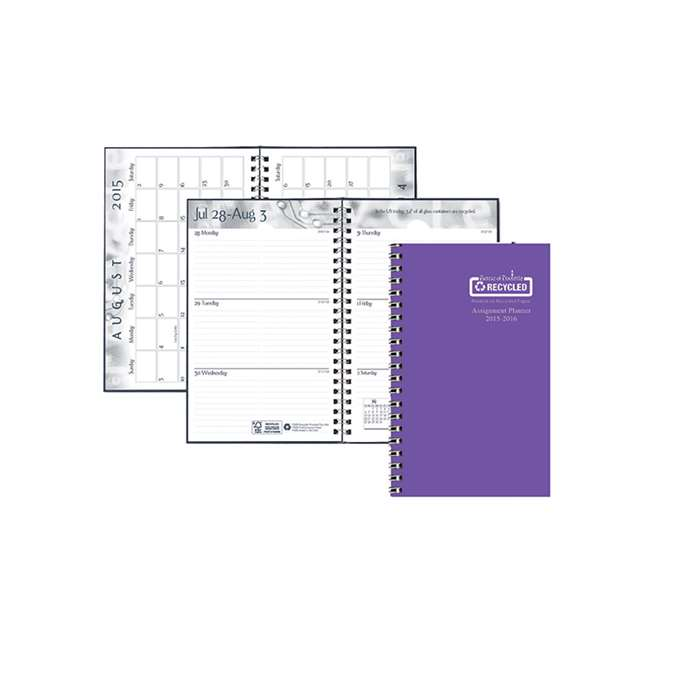 Academic Weekly Assignment Book Purple By House Of Doolittle