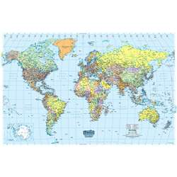 Us & World Maps Laminated World Map 50X33 By House Of Doolittle