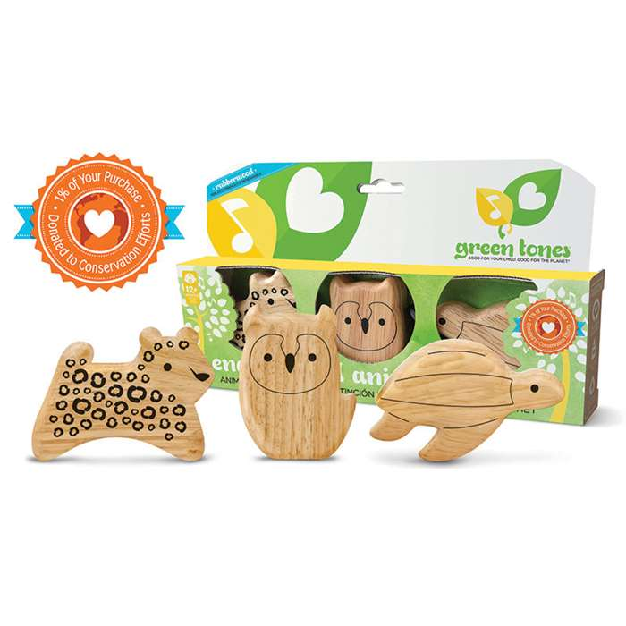 Green Tones Endangered Animal Shakers, HOH3788