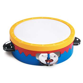 6 Multi-Colored Tambourine By Hohner