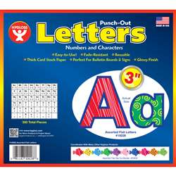 "3"" Punch Out Letters Assorted Fish, HYG10028"