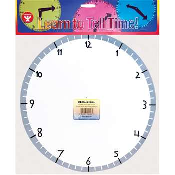 Blank Clock Kit 24 Clocks By Hygloss Products