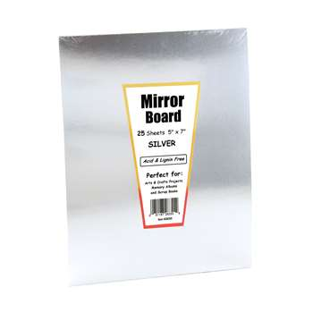 Mirror Board 5 X 7 25 Sheets By Hygloss Products