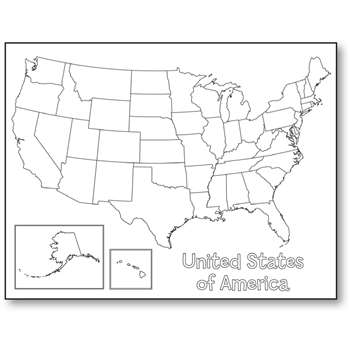 United States Map Poster By Hygloss Products