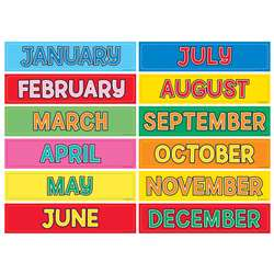 Monthly Calendar Cards 12Pk By Hygloss Products