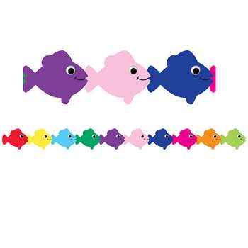 Multi Color Fish Die Cut Classroom Border By Hygloss Products
