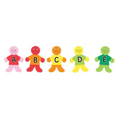 "Die Cut Accents 7"" Alphabet Kids, HYG33709"