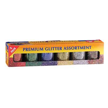Shop Glitter 3/4 Oz - 6 Pack By Hygloss Products