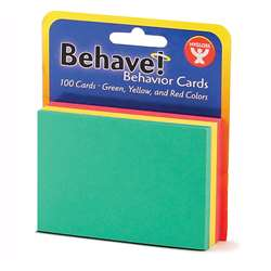 Behavior Cards 3X5 100Pk Assorted, HYG43525
