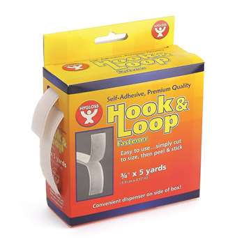 Hook & Loop Fastener Roll 34X5 Yd By Hygloss Products