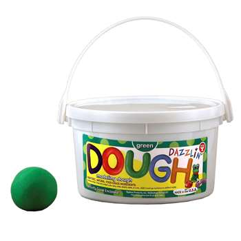 Dazzlin Dough Green 3 Lb Tub By Hygloss Products