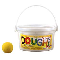 Dazzlin Dough Yellow 3 Lb Tub By Hygloss Products