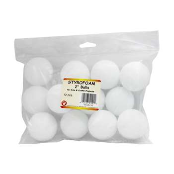 Styrofoam 2In Balls Pack Of 12 By Hygloss Products