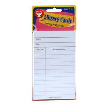 Bright Library Cards White 500 Ct, HYG61439