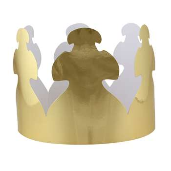Bright Gold Tag Crowns By Hygloss Products