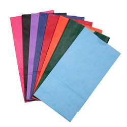 Bags Sz 6 Gusseted Assorted Colors By Hygloss Products