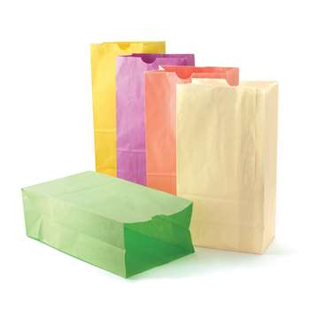 Colorful Paper Bags Pastel Asstd Colors By Hygloss Products
