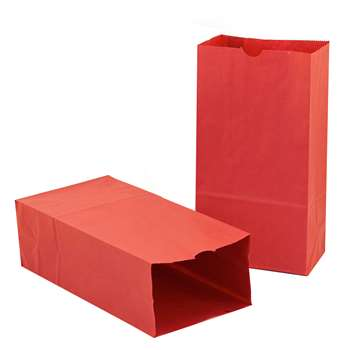Colored Craft Bags Red By Hygloss Products