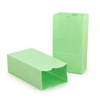 Colored Craft Bags Lime Green By Hygloss Products