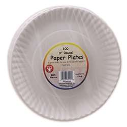 Shop Paper Plates 9In - 100/Pkg - Hyg69109 By Hygloss Products