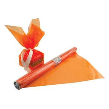 Cello Wrap Roll Orange By Hygloss Products