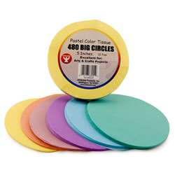 "5"" Tissue Circles Pastel 480 Pieces By Hygloss Products"